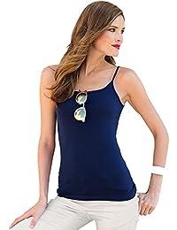 Camiseta Lisa Finos Tirantes Espagueti Mujer - 112004