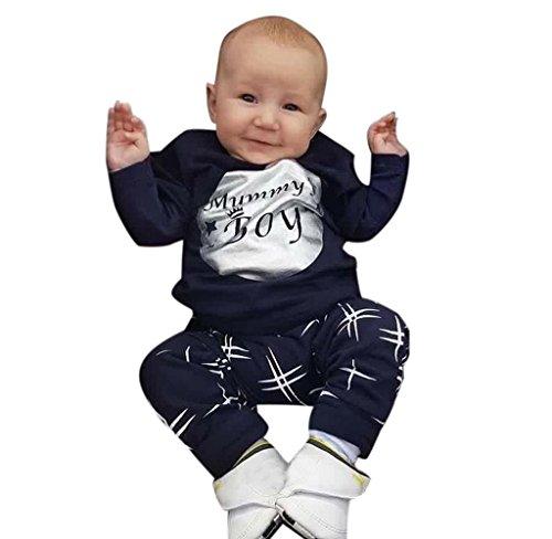 Covermason Kinder Baby Jungen Mädchen T-shirt Tops + Shorts Hosen Bekleidungssets (1-2 Jahre(80CM), Jungen Marine)