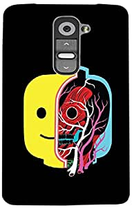 Timpax Light Weight One-piece construction Hard Back Case Cover Printed Design : A skull in a jar.For LG G2 mini ( D618 )