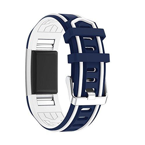 Preisvergleich Produktbild Fitbit Charge 2 Armband, iHee 2017 Neue Mode Sport Silikon Armband Bügel Band für Fitbit Charge 2 (F)