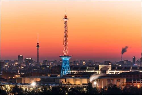 Posterlounge Acrylglasbild 180 x 120 cm: Berlin Skyline von Achim Thomae - Wandbild, Acryl Glasbild, Druck auf Acryl Glas Bild