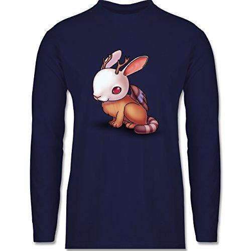 Sonstige Tiere - Wolpertinger - Longsleeve / langärmeliges T-Shirt für Herren Navy Blau