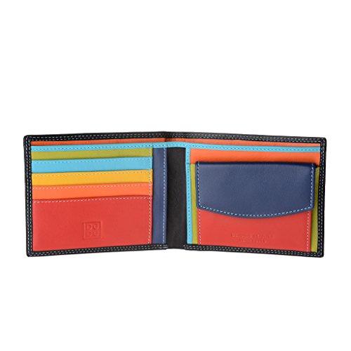 Portafoglio uomo in pelle Nappa colorato con portamonete e porta carte DUDU Nero