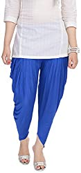 Soundarya Womens Cotton Lycra Harem Pants (Blue)