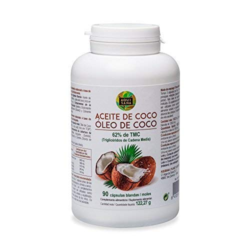 Perlen 90 Kapseln (Kokosöl Kapseln 100% natürliche Nahrungsergänzung, 90 Kapseln aus Kokos Öl, mittelkettige Fettsäuren)