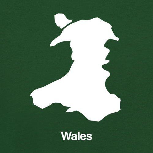 Wales Silhouette - Herren T-Shirt - 13 Farben Flaschengrün