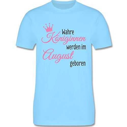 Geburtstag - Wahre Königinnen werden im August geboren - Herren Premium T-Shirt Hellblau