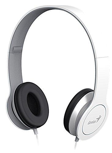 Genius HS-M430Kopfhörer, faltbar, mit Flachkabel/Mikro, für Smartphone, Weiß Genius Bluetooth Headset