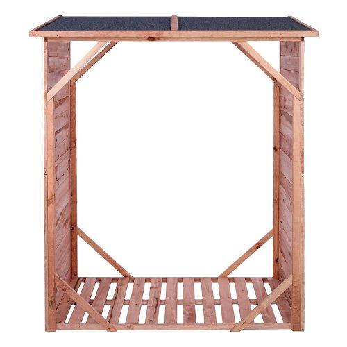 Kaminholzregal IMPRÄGNIERT Brennholzregal Kaminholzunterstand für bis zu 1,15 m³ Brennholz