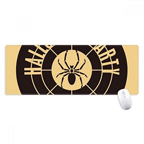 beatChong Round Halloween Spinnen-Muster Griffige Mousepad Große Erweiterte Spiel Büro titched Kanten Computer-Mat Geschenk