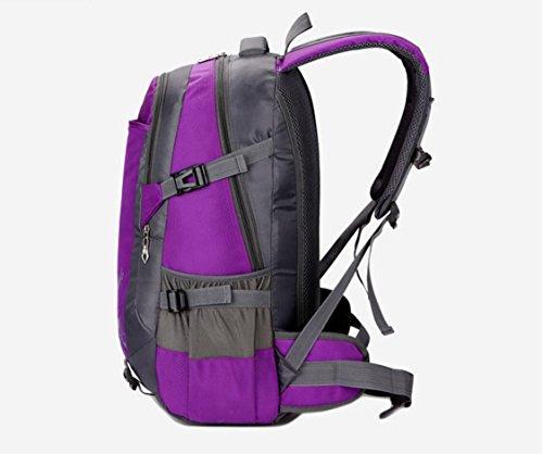 LQABW Multi-Funktions-Outdoor-Schulter-Wasserdichtes Nylon Climbing Polyester Atmungsaktiv Bergsteigen Wandern Rucksack Tasche darkblue