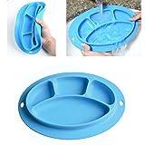 INCHANT Babys silicona Mantel, Trona Bandeja de alimentación antideslizante placa de succión para la mesa de la cocina comedor, lavavajillas y microondas seguro, aprobado por la FDA, libre de BPA