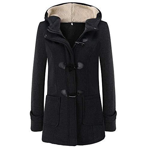 Cappotto con Cappuccio da Donna Cappotto Maniche Abbigliamento A Lungo Lunghe Cappotto Lungo Cappotto Lungo Elegante Cappotto in Montgomery di Moda Vintage Cappotto Invernale Autunno Inverno