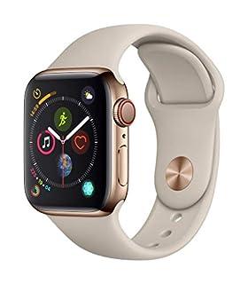 AppleWatch Series4 (GPS + Cellular) Boîtier en Acier Inoxydable Or de 40mm avec BraceletSport Gris Sable (B07JZQ9LB1) | Amazon price tracker / tracking, Amazon price history charts, Amazon price watches, Amazon price drop alerts