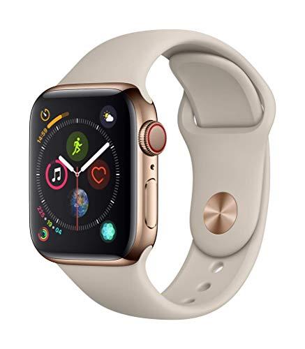 Apple Watch Series 4 Reloj Inteligente Oro OLED Móvil GPS (satélite) - Relojes Inteligentes (OLED, Pantalla táctil, GPS (satélite), Móvil, 39,8 g, Oro)