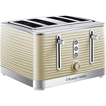 RUSSELL HOBBS Cavendish 24091 4-Slice Toaster Cream  New