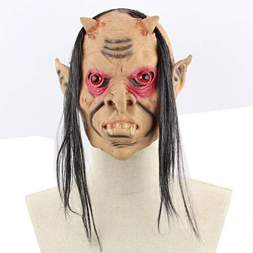 Halloween Latex Maske Gruselige Lange Haare Rotes Auge Dämon 3D Beängstigend Teufel Neuheit Kostüm Partei Cosplay Requisiten Rollenspiel Spielzeug