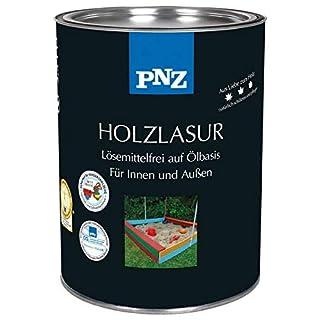 PNZ Holzlasur lösemittelfrei (deckend), Gebinde:0.75L, Farbe:Ebenholz