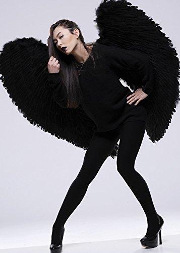 Deluxe Gothic Engel Flügel, Extra groß, Schwarz