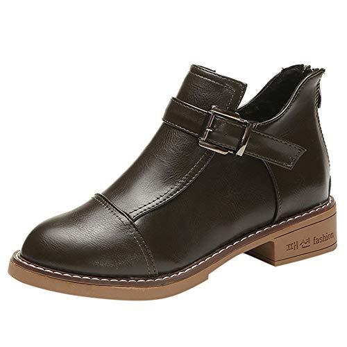 Botte Femme Hiver/Homme Martin Bottes Cuir/Bottines Plates Fourrées/Boots Chaussures Lacets/Classiques Chaudes Impermeables de LuckyGirls