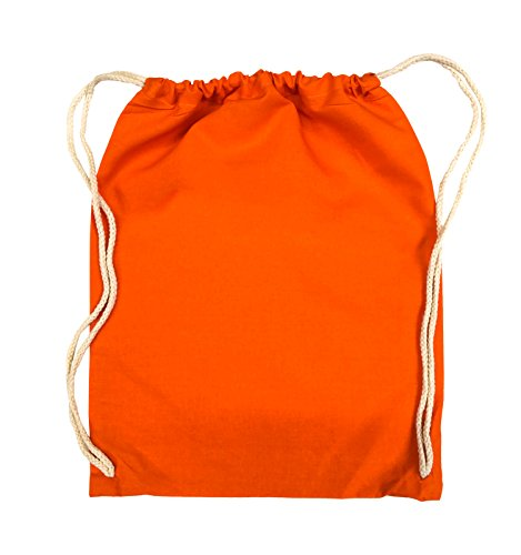Comedy Bags - DOESN'T LOOK LIKE ANYTHING TO ME - Turnbeutel - 37x46cm - Farbe: Schwarz / Silber Orange / Weiss