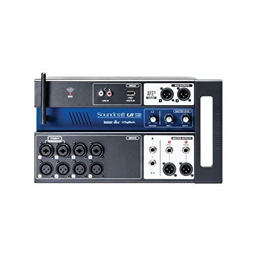 Soundcraft Ui12Digitaler Mischer mit 12 Kanälen und Fernsteuerung, schwarz Kanal 12 Schwarz