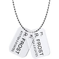 Hollywood Collectibles Group Pt. R.Frost Aliens Colonial Marine Dog Tags by Hollywood Collectibles