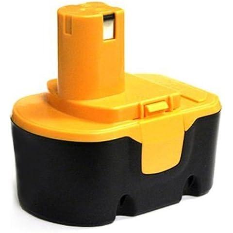 bateria - TOOGOO(R)Reemplazo de fuente de bateria de herramientas para RYOBI 14,4 V, RY62, RY 6200, RY 6201, RY 6202, 130 224 010, etc negro y amarillo