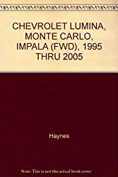 CHEVROLET LUMINA, MONTE CARLO, IMPALA (FWD), 1995 THRU 2005