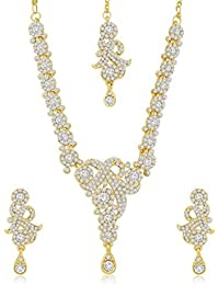 [Sponsored]Sukkhi Ravishing Gold Plated Australian Diamond Stone Studded Necklace Set For Women