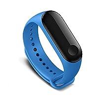 Kyver Xiaomi Mi Band 3 - Mi Band 4 Akıllı Bileklik Kyver Kordon Kayış (Mavi)