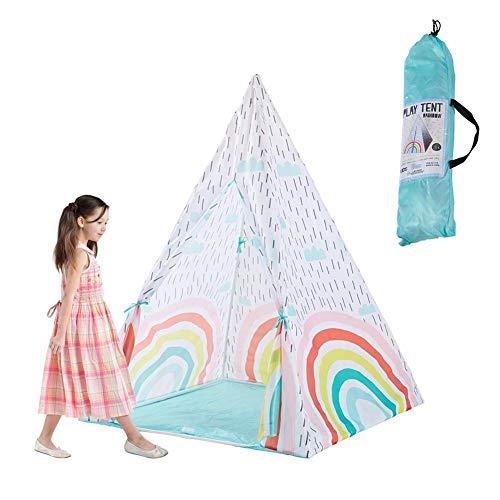 Sanmubo Indian Style Kinderzelt Ethnic Style Baby Yurt Spielzelt Spielhaus Prinzessin Indian Tipi Zelt Kinderspielhaus Kinder Spielzimmer Tipi Spielzeltmatte für Jungen