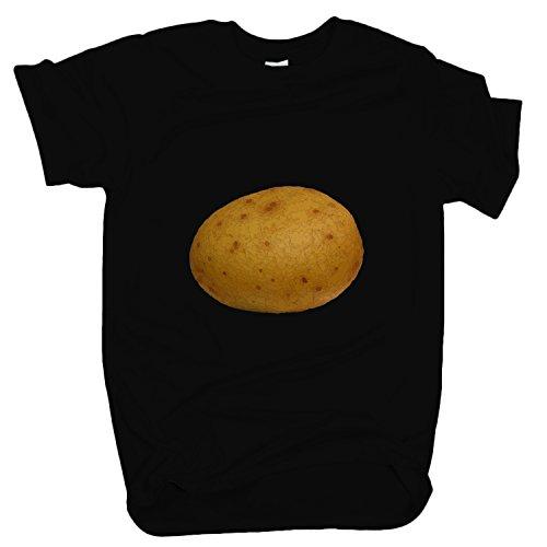 ZDesign 9GAG Potato Kartoffel T-Shirt | Größe XS-4XL | Ideales Geschenk Schwarz