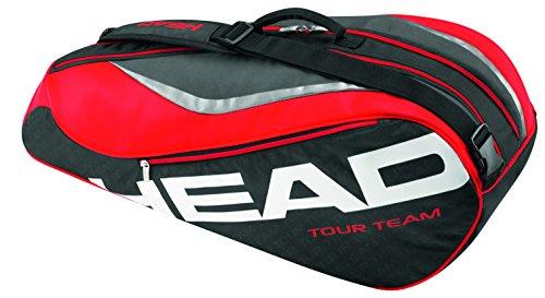 HEAD  Schlägertasche Tour Team 6R Combi, schwarz, 70 x 50 x 10 cm, 0.4 Liter, 283236-BKRD