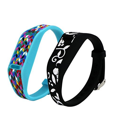 efithy-fitbit-flex-replacement-epoxy-wristband-bracelet-pack-of-2-blackblue