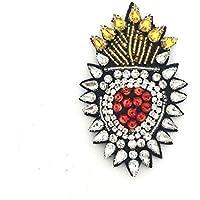 1 PC Patch Rhinestone Aplicada, flor DIY cristal Broche Sombrero Vestimenta Bolsa de accesorios