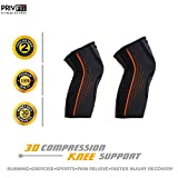 Privfit Knee Brace Support Compression Sleeves, Arthritis, ACL, Running, Pain Relief, Injury Recovery