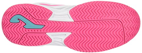 Joma Match, Fitness Fille Multicolore (Blanc/Rosa)