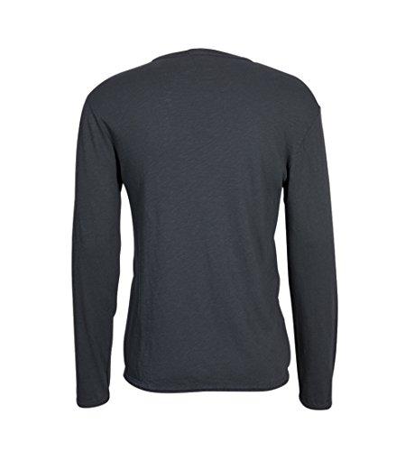 American Vintage Herren Shirt Sonoma in Grau noir vintage