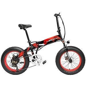 41PUL6yXMDL. SS300 LANKELEISI X2000 20 Pollici Bici da Pieghevole Bicicletta elettrica 7 velocità Bici da Neve 48v 500W Motore Telaio in…
