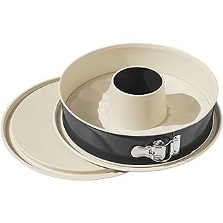 ALPFA Set of Leak-Proof springform Pans 26cm in Black/Creme, Ceramic, Crème, 26 x 26 x 7.5 cm