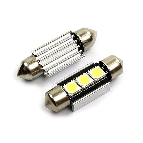INION® XENON WEISSE Kennzeichenbeleuchtung 2 x 36mm C5W 3 SMD / LED KALT - WEISS * CANBUS * Kennzeichenleuchte Auto birne