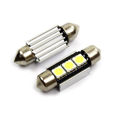 Preisvergleich Produktbild INION® XENON WEISSE Kennzeichenbeleuchtung 2 x 36mm C5W 3 SMD / LED KALT - WEISS * CANBUS * Kennzeichenleuchte Auto birne soffite