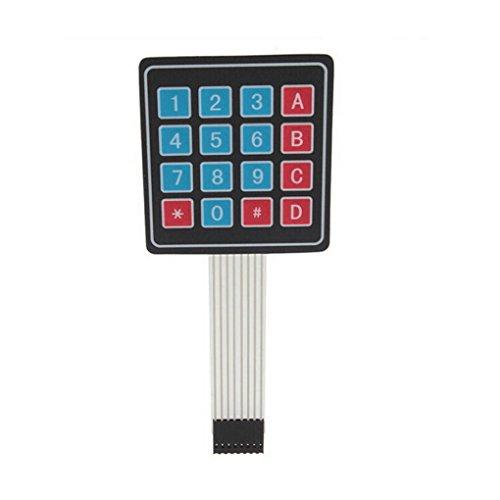 MUANI Interrupteur à Membrane Clavier 4x4 Matrice Clavier Tableau clé Unique Puce Micro-Ordinateur Externe clé Microcontroller MUANI