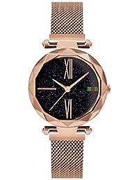 ZXMBIAO Reloj De Pulsera Starry Sky Mujer Relojes Imán Hebilla Elegante Casual  Reloj De Pulsera De Cuarzo Único… 09f5c1f15ed7