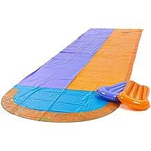 Garden Games 539 - Gioco Scivolo Acquatico per Bambini, 4.7 M con Due Gonfiabili Boogie Boards e