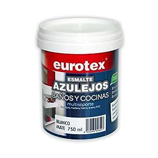 Pintura mate para azulejos de baños y cocinas multisoporte Eurotex – 750 ml – (Blanco)
