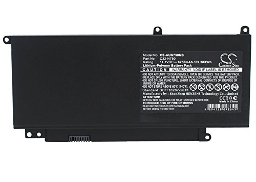 Replacement battery for ASUS - Notebook, Laptop Battery - N750, N750JK, N750JV, N750JV-QB72-CB, N750JV-T4069H, N750JV-T4090H, N750JV-T4110H, N750JV-T4124H, N750Y47JV-SL