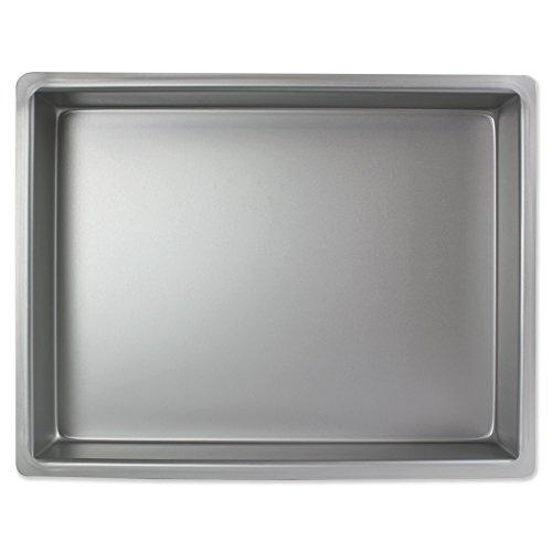 PME Molde para Pastel Rectangular de Aluminio Profundidad de 12 x 16 x 2-Pulgadas