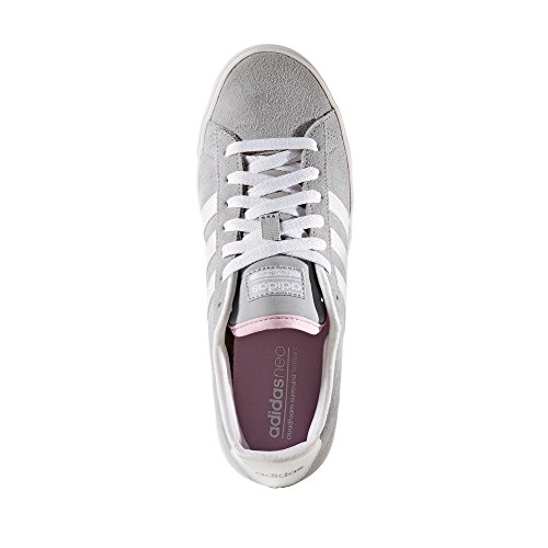 adidas Damen Cloudfoam Daily Qt W Turnschuhe, Clear Onix / Ftwr White / Matte Silver Grau